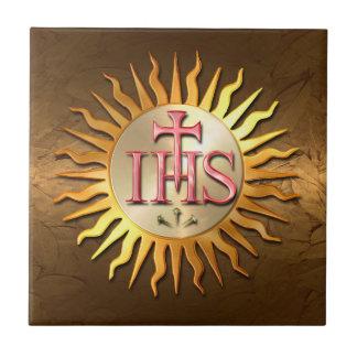 Jesuit Seal Small Square Tile