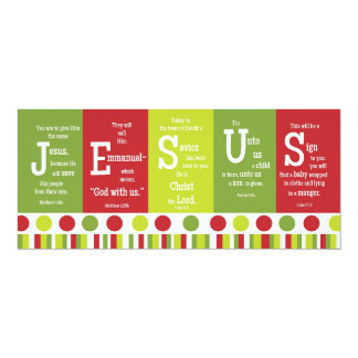 JESUS 2-Sided Scripture Verse Christmas Card