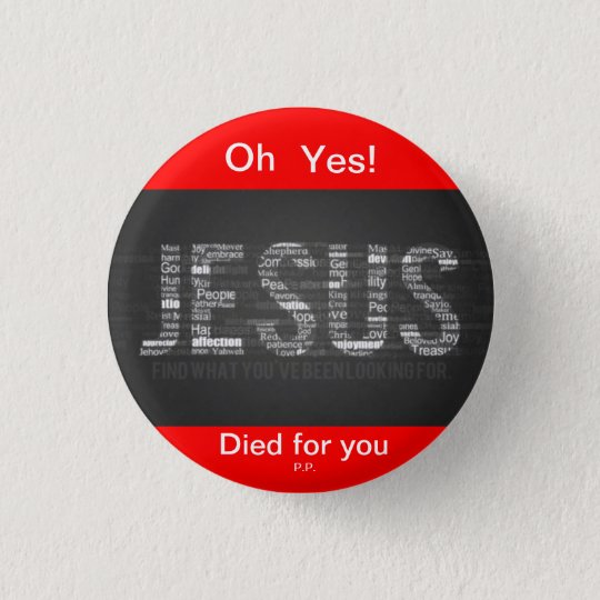 Jesus 3 Cm Round Badge