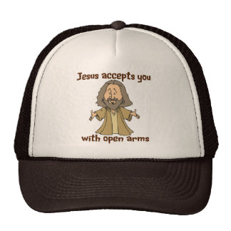 Jesus accepts you with open arms cap