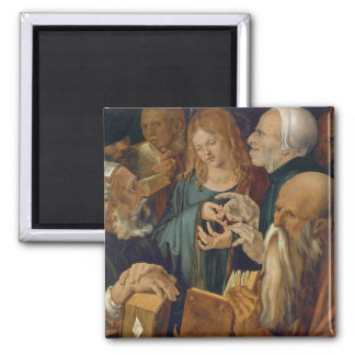 Jesus Among the Doctors by Albrecht Durer Fridge Magnet