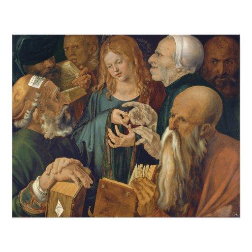 Jesus among the Doctors by Albrecht Durer Photograph