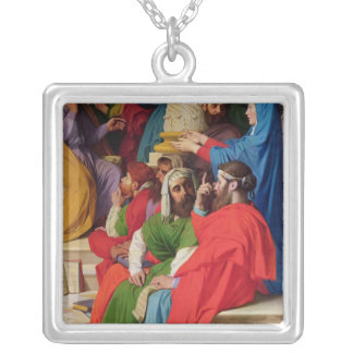 Jesus Among the Doctors Silver Plated Necklace