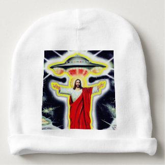 Jesus and a UFO Baby Beanie
