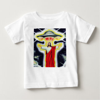 Jesus and a UFO Baby T-Shirt