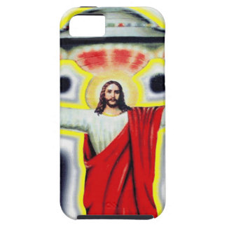 Jesus and a UFO iPhone 5 Case