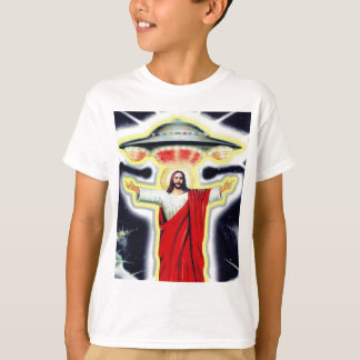 Jesus and a UFO T-Shirt