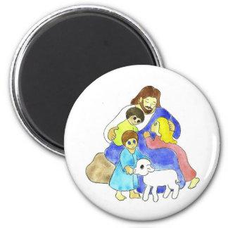 Jesus and Children 6 Cm Round Magnet