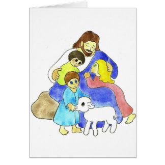 Jesus and Children Greeting Cards