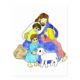 Jesus and Children Postcard