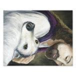 Jesus and Greyhound Dog Art Print Photograph