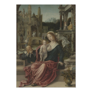 Jesus and Mother Mary Breastfeeding 13 Cm X 18 Cm Invitation Card