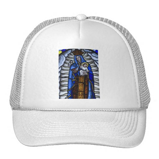 JESUS AND MOTHER MARY MESH HAT