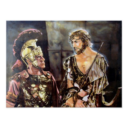 Jesus and Roman Poster