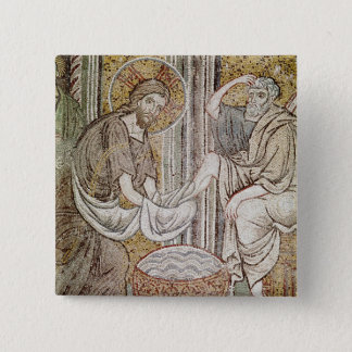 Jesus and St. Peter 15 Cm Square Badge
