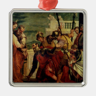 Jesus and the Centurion Silver-Colored Square Decoration