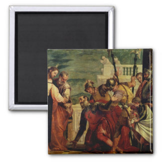 Jesus and the Centurion Square Magnet