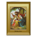 Jesus and the children greeting cards
