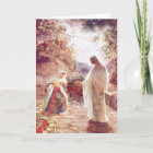Jesus Appears To Mary Magdalene Christmas Card