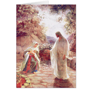 Jesus Appears To Mary Magdalene Greeting Card