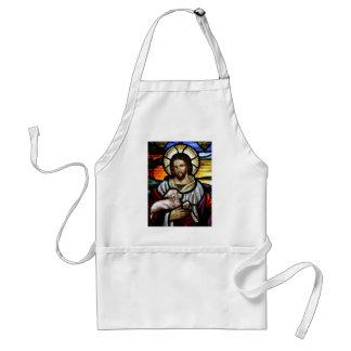 Jesus as The Good Shepherd Portrait Standard Apron