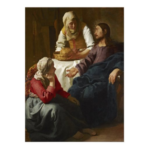Jesus at Mary and Martha's Home Personalized Invitations