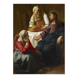 "Jesus at Mary and Martha's Home 5.5"" X 7.5"" Invitation Card"