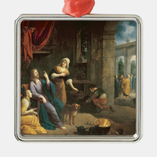 Jesus at the Home of Martha and Mary Christmas Ornament
