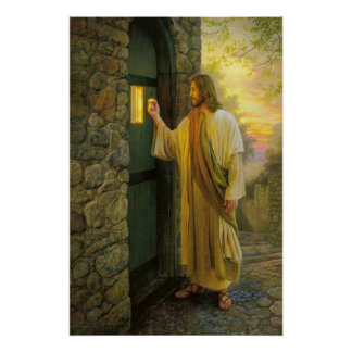 Jesus At Your Door Vintage poster