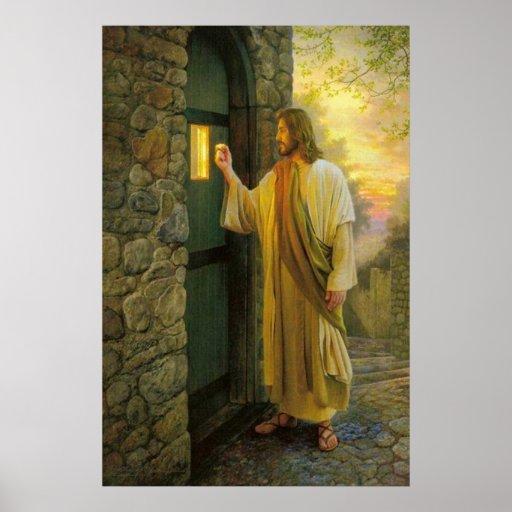 Jesus At Your Door Vintage poster