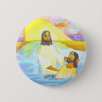 Jesus' Baptism 6 Cm Round Badge