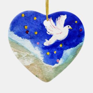 Jesus Baptism Ceramic Heart Decoration