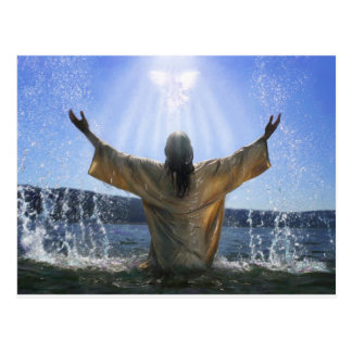 Jesus Baptism Postcard