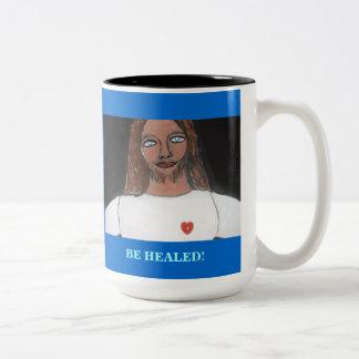 JESUS:  Be healed Two-Tone Mug