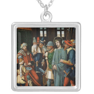Jesus Before Pilate Silver Plated Necklace
