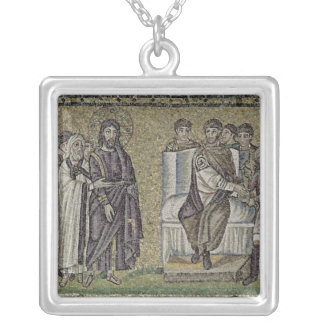 Jesus before Pontius Pilate Silver Plated Necklace