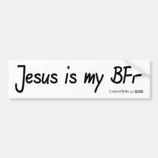 Jesus BFF Bumper Sticker Car Bumper Sticker
