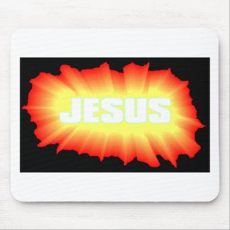 Jesus Black & Orange Mouse Mat