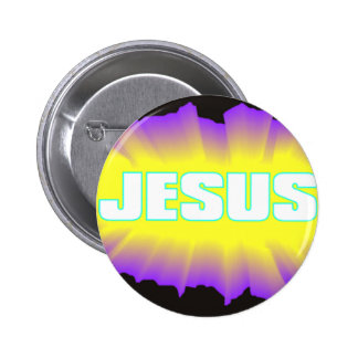 Jesus Black & Purple 6 Cm Round Badge