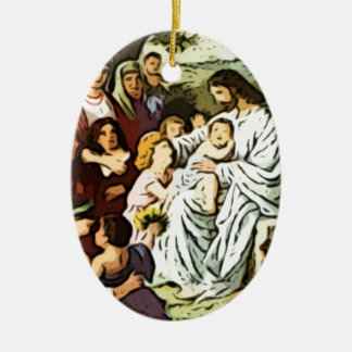 Jesus blessing the children christmas ornament