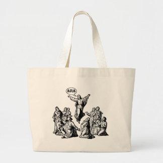 Jesus BRB lol shirt Large Tote Bag