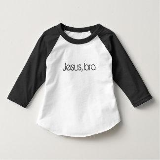 """""""Jesus, bro."""" Toddler Baseball Tee"""