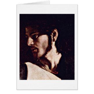 Jesus By Michelangelo Merisi Da Caravaggio Greeting Card