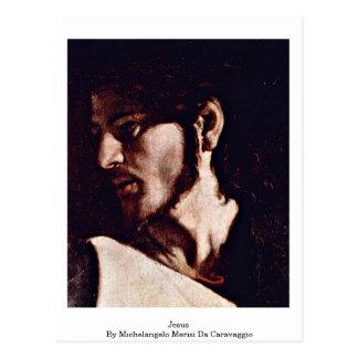 Jesus By Michelangelo Merisi Da Caravaggio Postcard