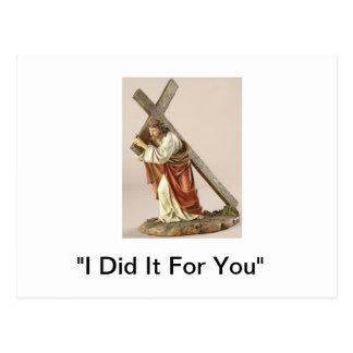 """Jesus Carries The Cross"" Postcard"