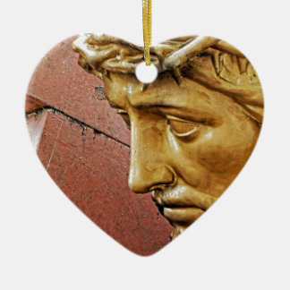 Jesus carrying the cross christmas ornament