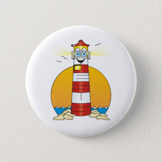 Jesus Cartoon Lighthouse 6 Cm Round Badge