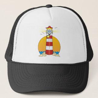 Jesus Cartoon Lighthouse Trucker Hat