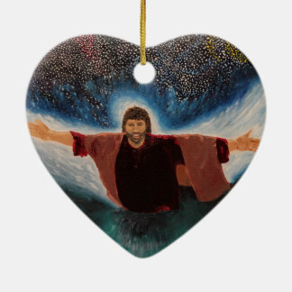 Jesus Ceramic Heart Decoration
