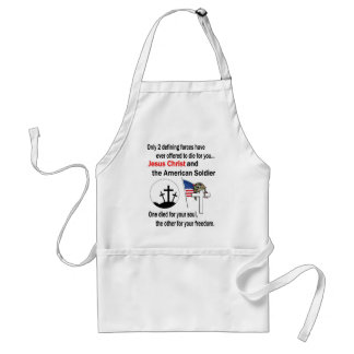Jesus Christ and the American Soldier 2nd Version Aprons